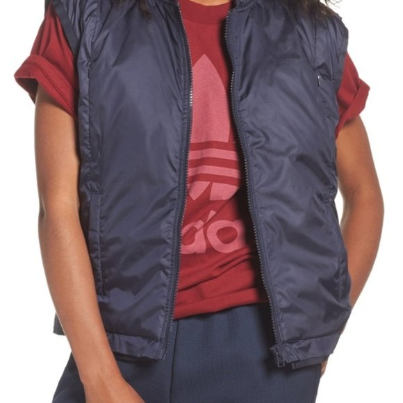adidas Jackets & Blazers - NWT Adidas Tubular Padded Vest Navy Blue Medium